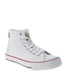 Levi's Trucker Hi Canvas Sneakers White