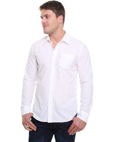 Levi's Long Sleeve Classic One Pocket Shirt White