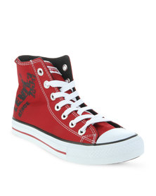 Levi's Dunk Hi 2 Nylon Sneakers Red