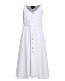 Lilly's Garrett Who's Your Mama Dress White