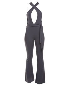 Lilly's Garrett She's Got Flair Jumpsuit Grey