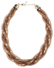 Lily & Rose Mesh Intertwined Necklace Bronze