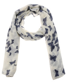 Lily & Rose Butterfly Scarf Blue