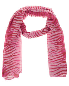 Lily & Rose Ombre Zebra Scarf Pink