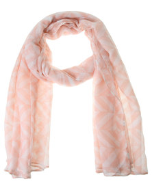 Lily & Rose Two Colour Geo Scarf Pink