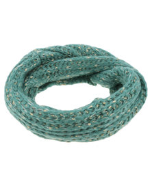Lily & Rose Soft Knit Woollen Scarf Green