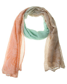 Lily & Rose Paisley Ombre Scarf Multi