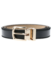 Lily & Rose Metal Keeper Skinny Belt Black