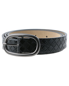 Lily & Rose Weave Belt Black