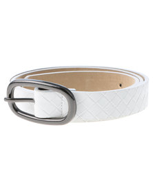 Lily & Rose Weave Belt White