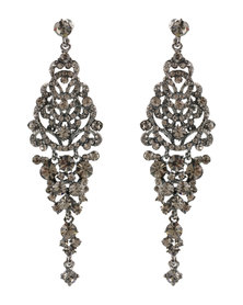 Lily & Rose Diamante Drop Earrings Silver-Tone