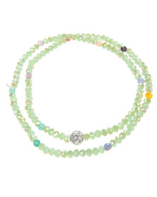 Lily & Rose Stacked Bead Bracelet Green