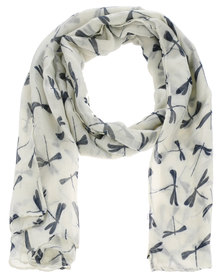Lily & Rose Dragonfly Scarf White