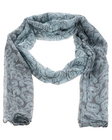 Lily & Rose Floral Paisley Scarf Blue