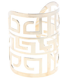 Lily & Rose Geometric Cut Out Bracelet Gold-Tone