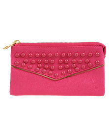Lily & Rose Beaded Wallet Pink