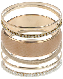 Lily & Rose Warm Tones Bangle Stack Gold