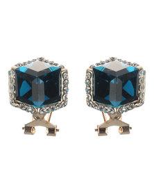Lily & Rose Gemstone & Diamante Stud Earrings Turquoise