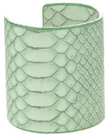Lily & Rose Snake Skin Cuff Bracelet Green