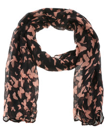 Lily & Rose Shadow Butterfly Scarf Black