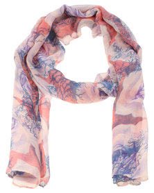 Lily & Rose Floral Print Scarf Multi