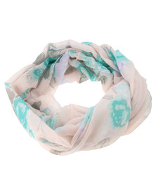 Lily & Rose Floral Print Snood Blue