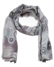 Lily & Rose Kaleidoscope Scarf Grey