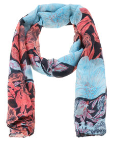Lily & Rose Botanical Print Scarf Multi