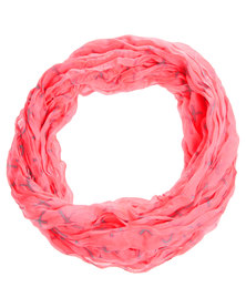 Lily & Rose Cross Print Scarf Pink
