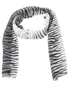 Lily & Rose Ombre Zebra Scarf Black and White