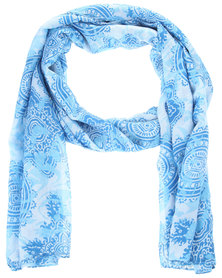 Lily & Rose Abstract Print Scarf Blue
