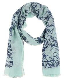 Lily & Rose Outerline Rose Scarf Mint