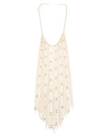 Lily & Rose Statement Tassel Necklace Gold-Tone