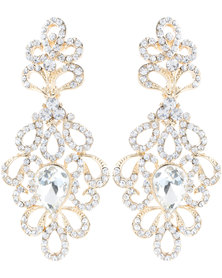 Lily & Rose Diamante Crystal Earrings Gold-Tone