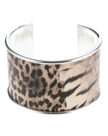 Lily & Rose Animal Print Cuff Bracelet Multi