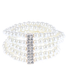 Lily & Rose Multi-Stack Pearl Bracelet White
