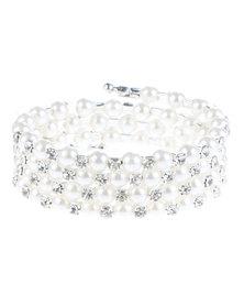 Lily & Rose Triple String Pearl Bracelet White