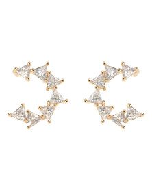 Lily & Rose Diamante Triangle Earrings Gold-Tone