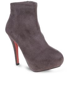 Linx Plain Stiletto Boots Grey