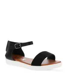 Linx Ankle Strap Sandal Black