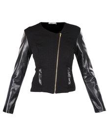 Linx Biker Jacket Black