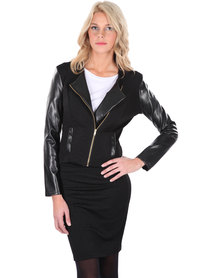 Linx Biker Jacket Black