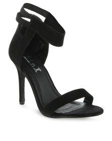 Linx Cut Back Heels Black