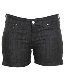 Linx Denim Shorts Black