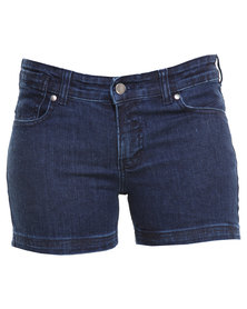 Linx Light Wash Denim Shorts Blue