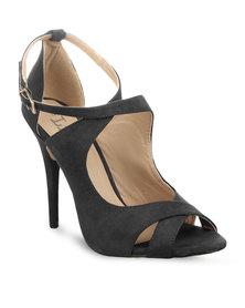 Linx Strappy High Heels Black