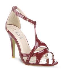 Linx T-bar Sandal Heels Red