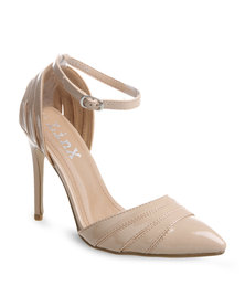 Linx Cut Out Heels Beige