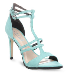 Linx Strappy Pointy Heels Blue