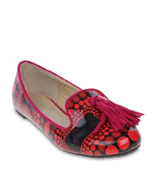 Linx Printed Pumps Red